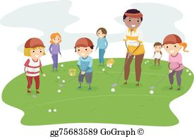 Kids Golf Clip Art.