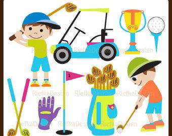 Kids Golf Clip Art.