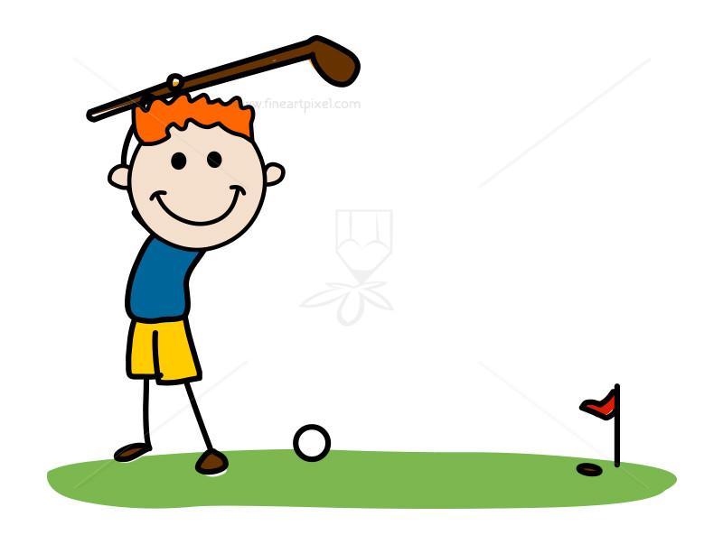 Golf kid.