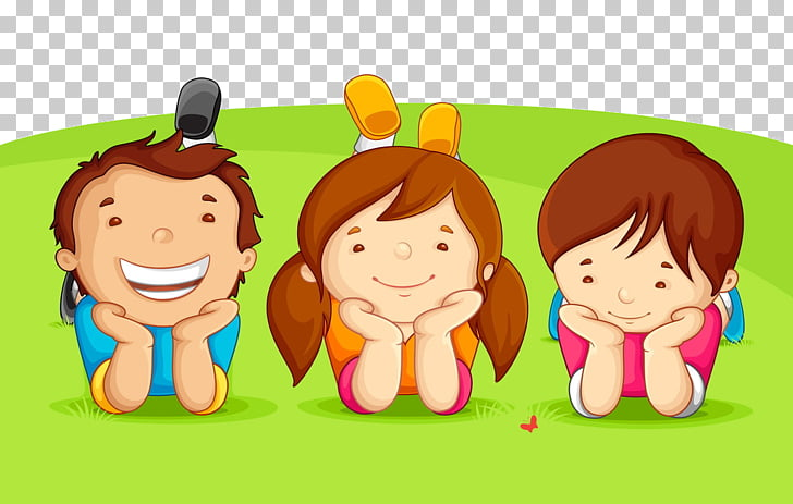 Childrens Day Greeting card , Cartoon kids, three toddlers.