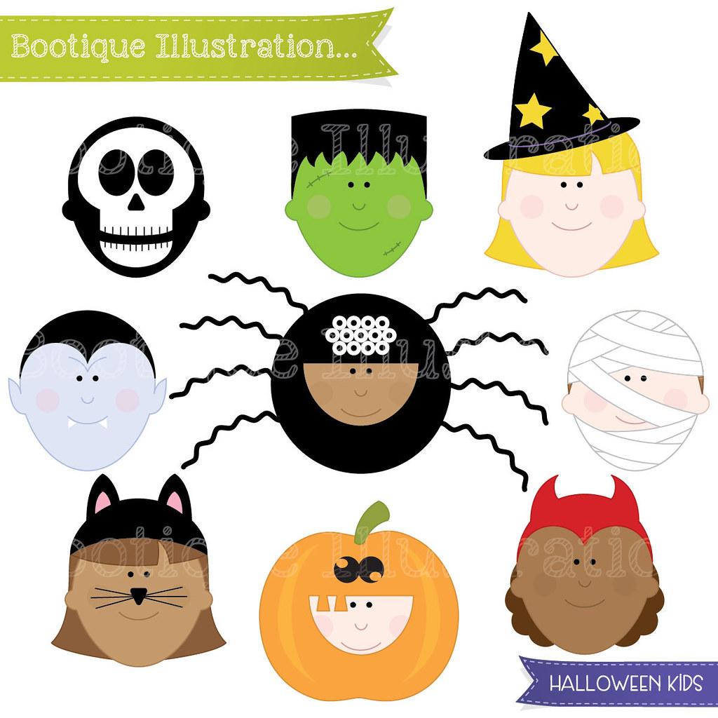 Halloween Clipart. Halloween Kids Clipart. Halloween Clip.