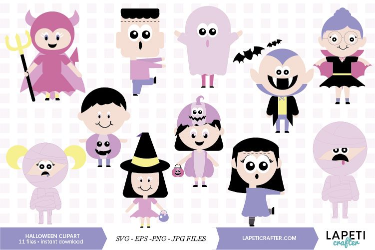 Cute Halloween clip art, halloween kids, halloween party png.