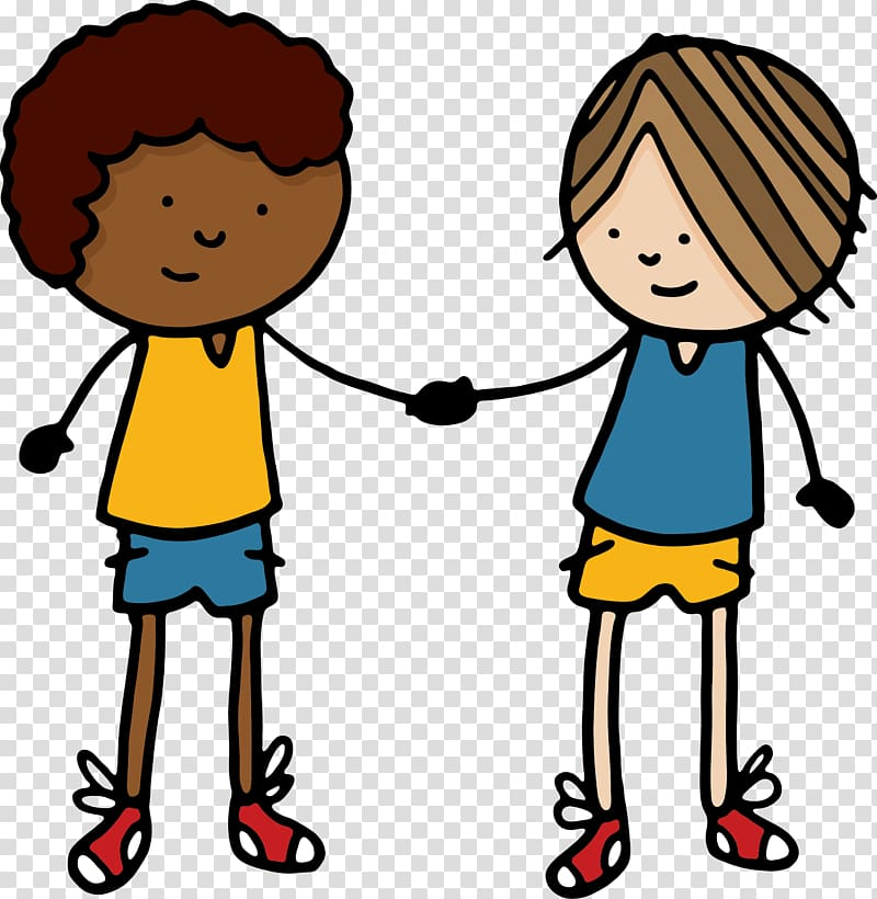 Handshake Cartoon , friends transparent background PNG.