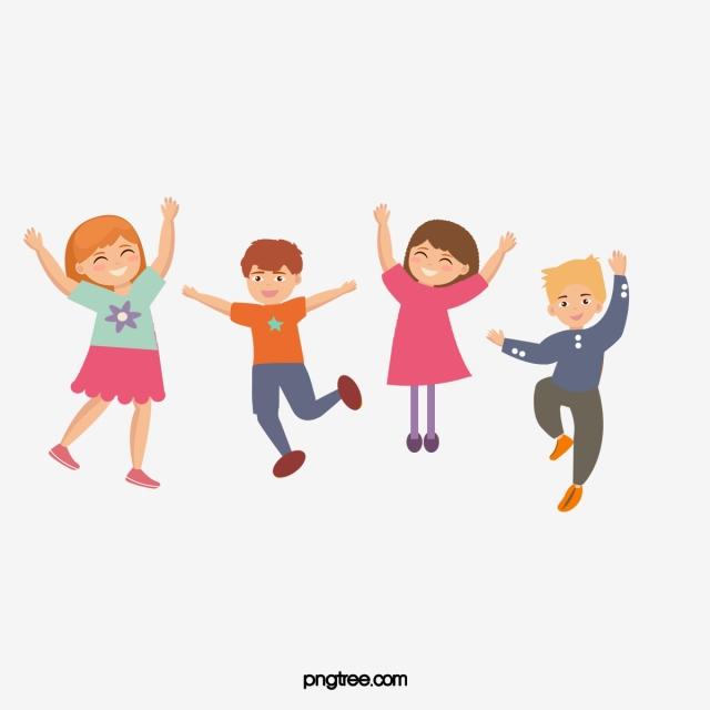 Happy Kids Cartoon Pictures, Kids Clipart, Cartoon Clipart, Jump PNG.