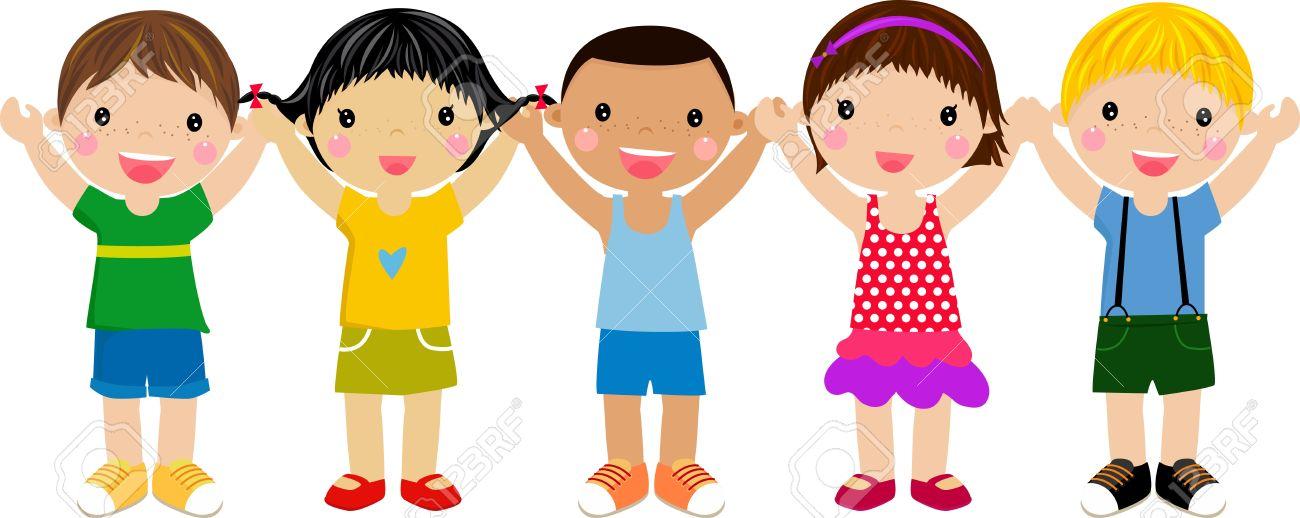 group of children having fun.