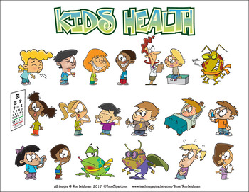 Kids Health Cartoon Clipart.