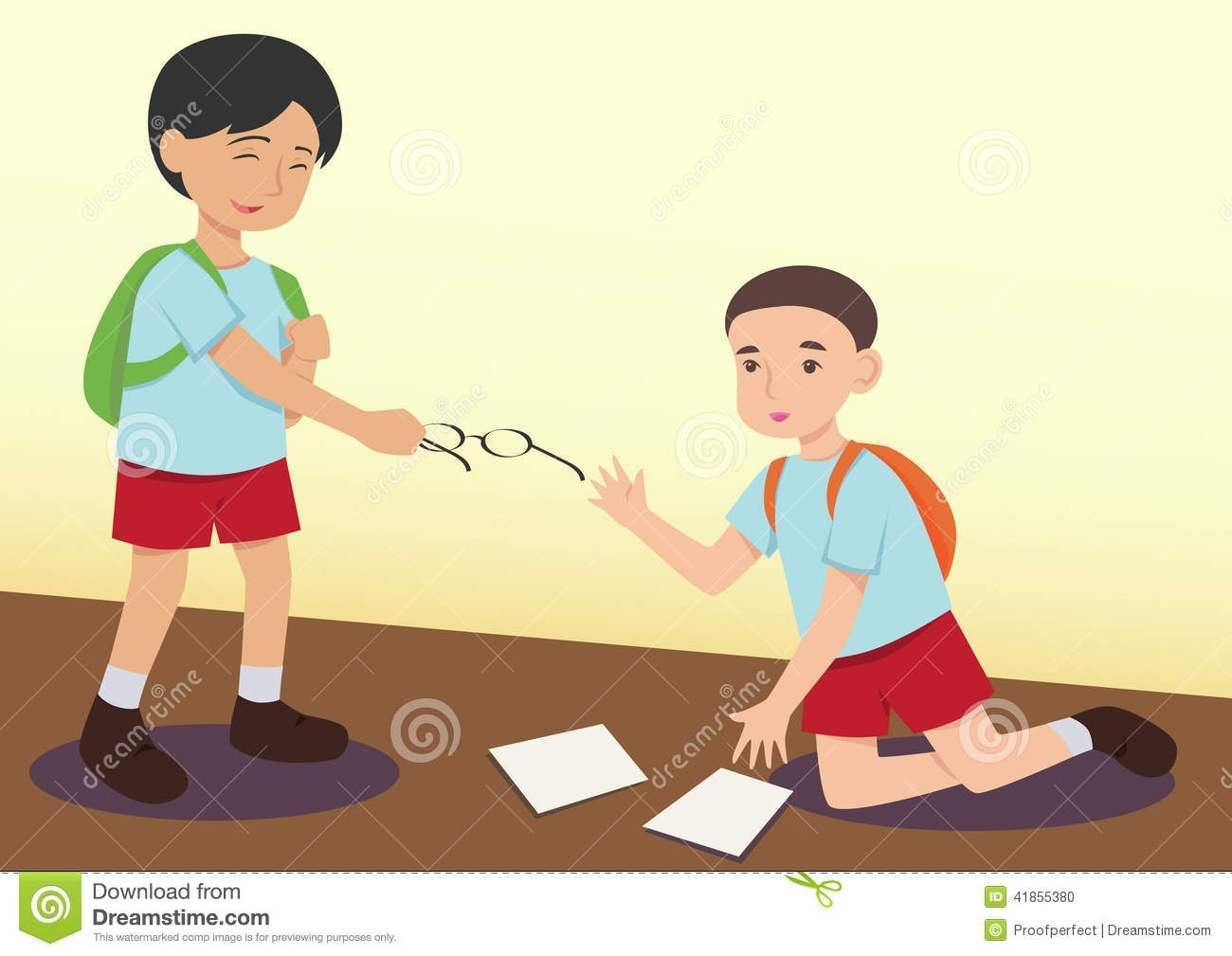 Kids Helping Each Other Up Clipart.