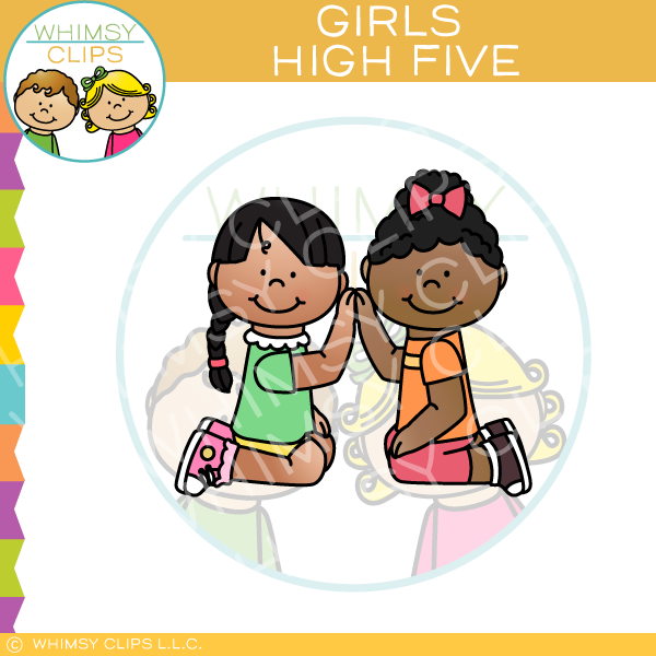 Kids high five clip art , Images & Illustrations.