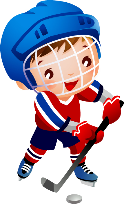 879 Hockey Player free clipart.