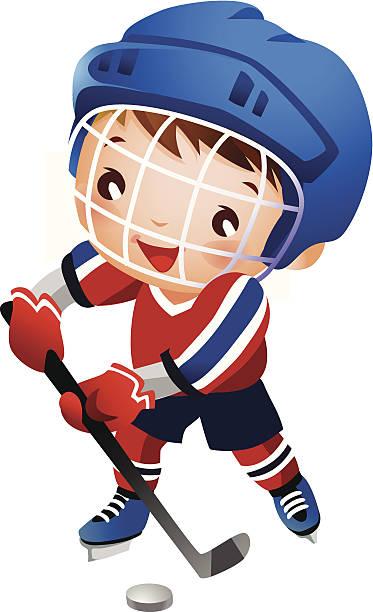 Kids Hockey Clipart.