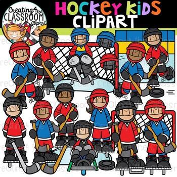 Hockey Kids Clipart {Sports Clipart}.