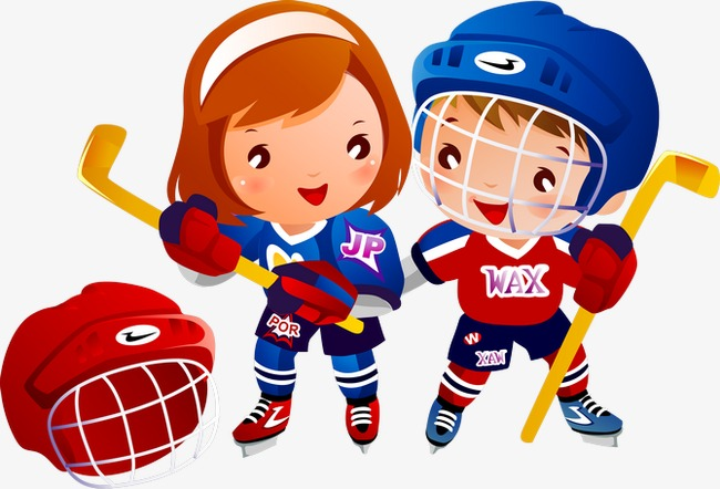 Hockey Kids Clipart.