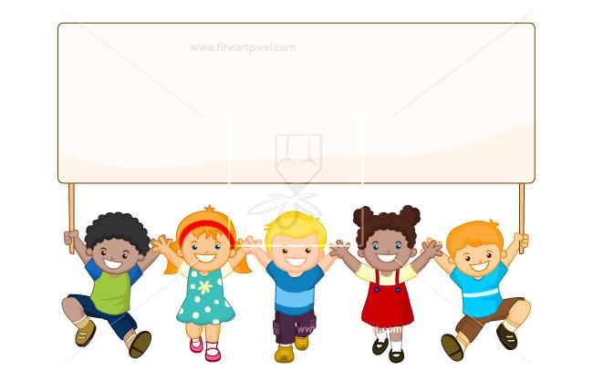 Kids Banner Clipart.