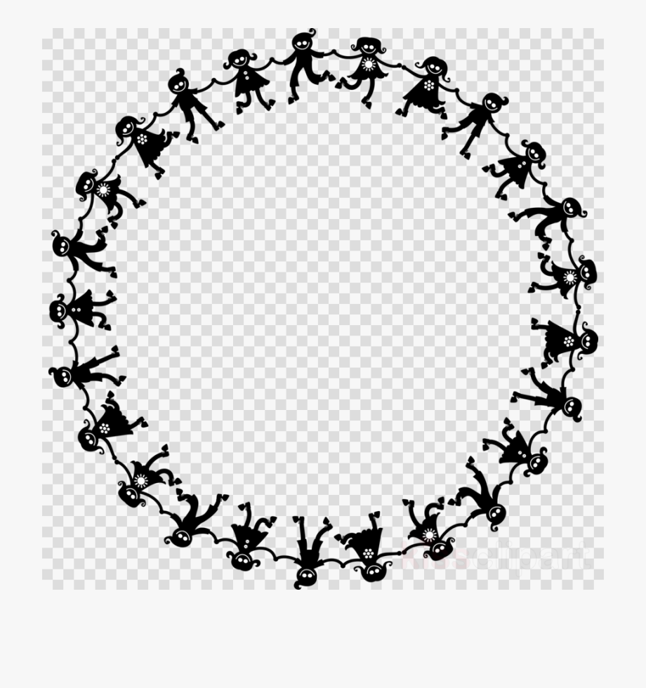 Circle Of Kids Holding Hands Clipart Clip Art.