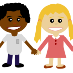 Free Children Holding Hands Clipart Image.