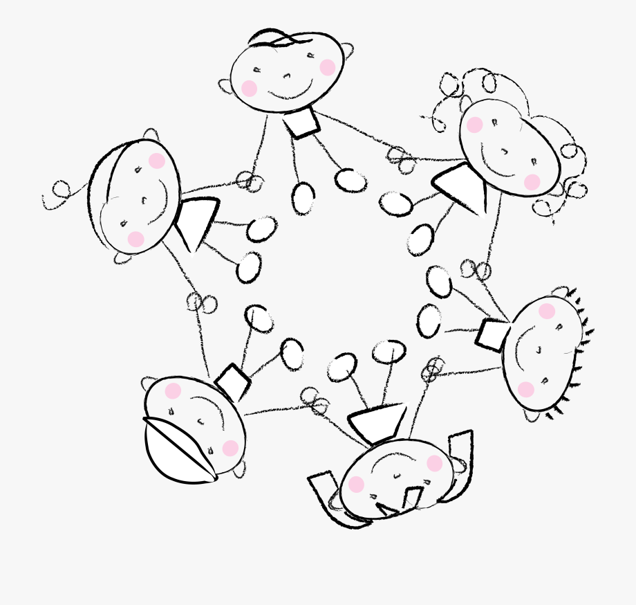 Kids Holding Hands Clipart Black And White.