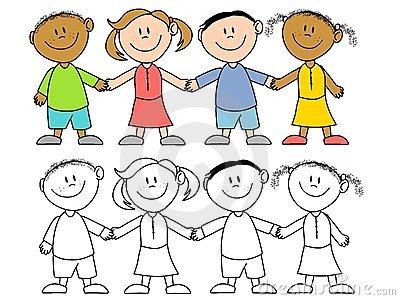 Kids Holding Hands Clipart.