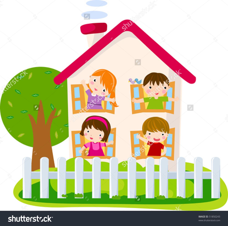 Cartoon House Stock Vector 51850243.