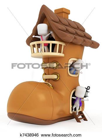 Stock Illustration of Shoe House Kids k7438946.