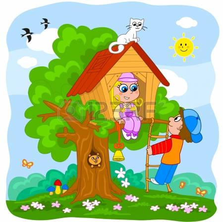 654 House Kids Playing Stock Vector Illustration And Royalty Free.