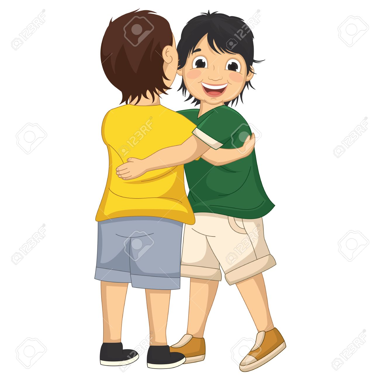 Kids hugging clipart » Clipart Station.