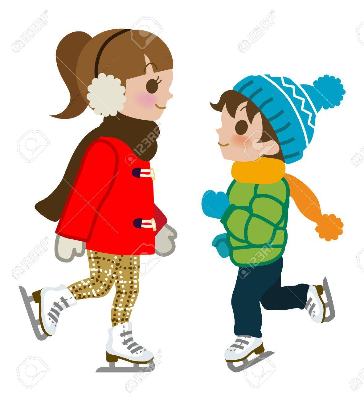 Kids ice skating clipart 7 » Clipart Portal.
