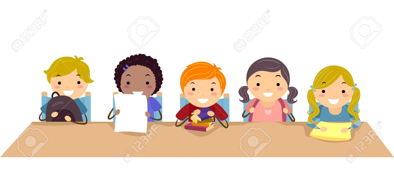 Kids In The Classroom Clipart.