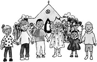 Children & church clip art GE_EU32 — Jenny Erikson.