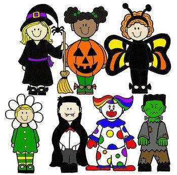 Clip Art~ Halloween Kids.