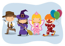 Kids Wearing Costumes Clipart.