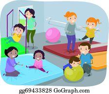 Gym Kids Clip Art.