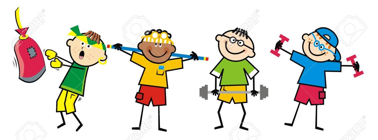 Gym Clipart Kids.
