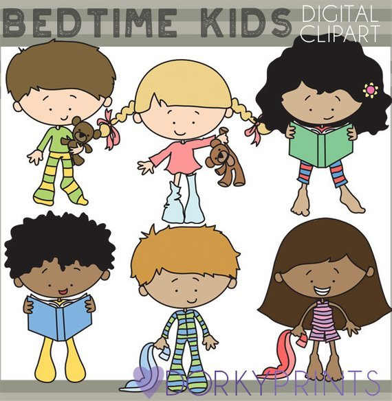 Kids in pajamas clipart » Clipart Portal.