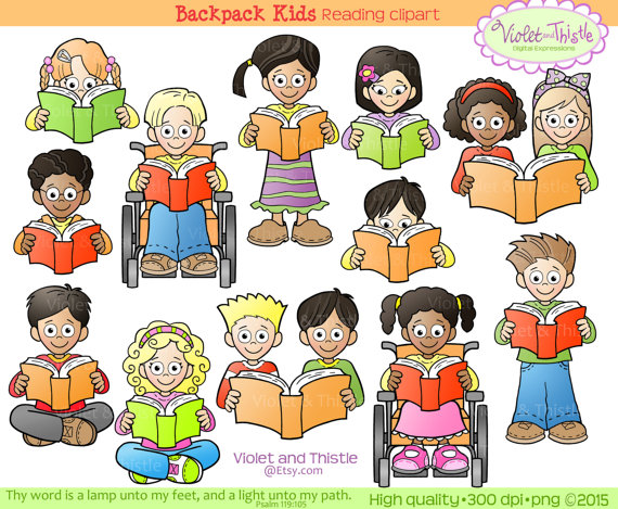 Kids Reading Clipart Kids Clip Art Children Reading School.