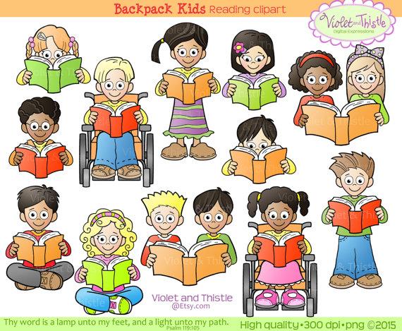 Kids Reading Clipart Kids Clip Art Children Reading School.