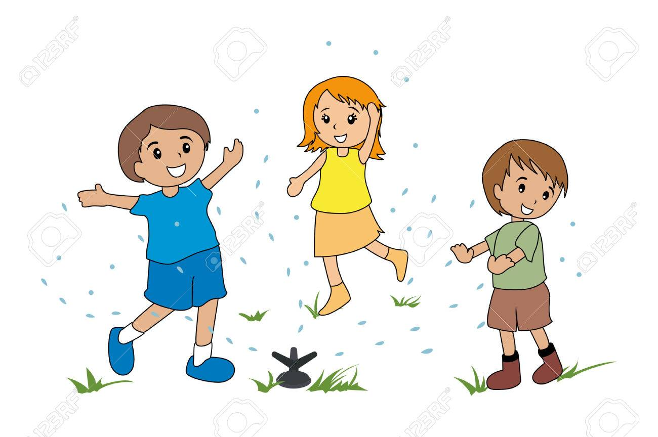 Kids in sprinkler clipart 2 » Clipart Station.