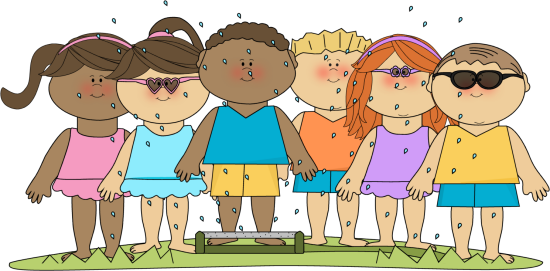 Kids in sprinkler clipart » Clipart Station.