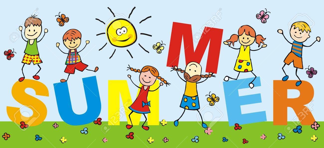 Summer Kids Clipart.