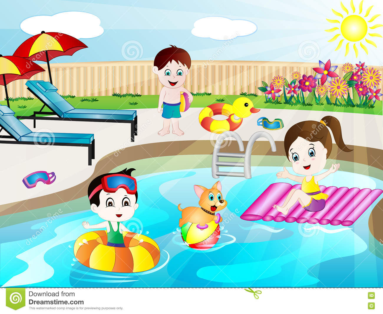 1712 Swimming Pool free clipart.