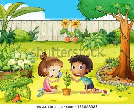 Kids Gardening Stock Vectors, Images & Vector Art.