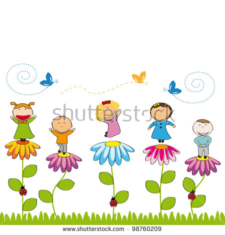 Children Gardening Stock Vectors, Images & Vector Art.