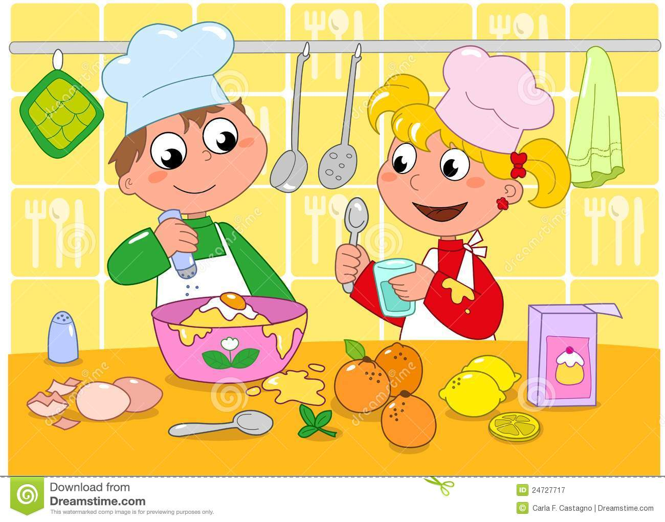 Kids kitchen clipart 3 » Clipart Station.