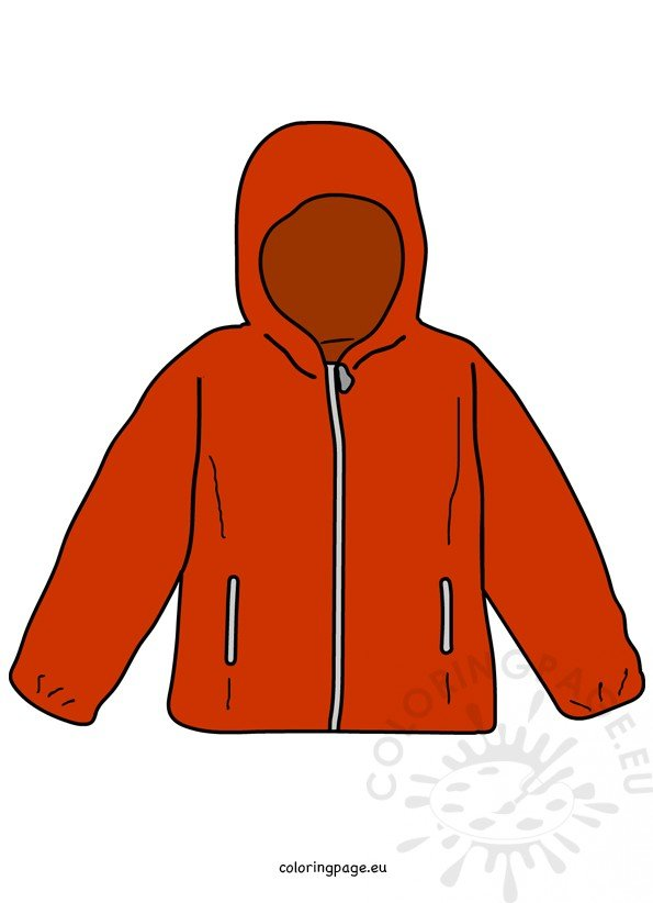Red jacket Kids Clothing clipart.
