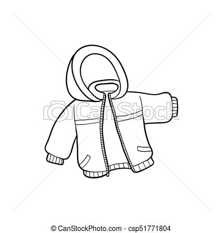 vector flat baby kid jacket.