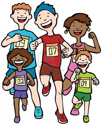 Kids jogging clipart 7 » Clipart Station.