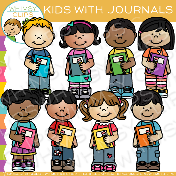 Kids School Journal Clip Art , Images & Illustrations.