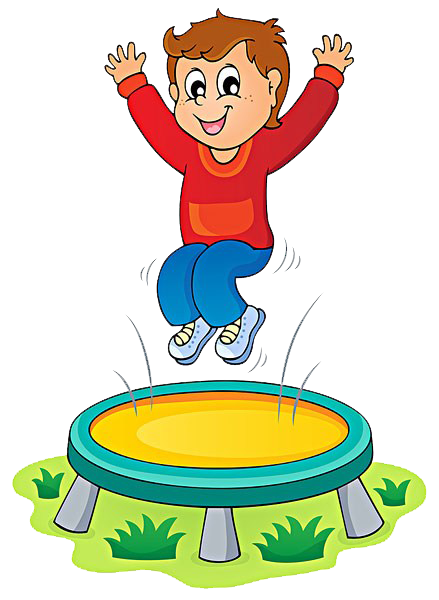 Kids jumping on trampoline clipart clipart images gallery for free.