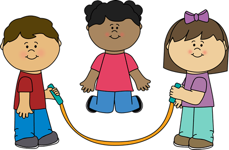 Kids Jumping Rope Clipart.