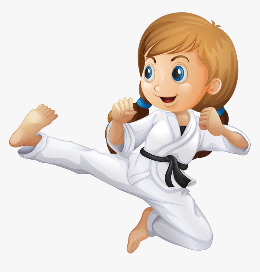 Girl Clipart Martial Arts.