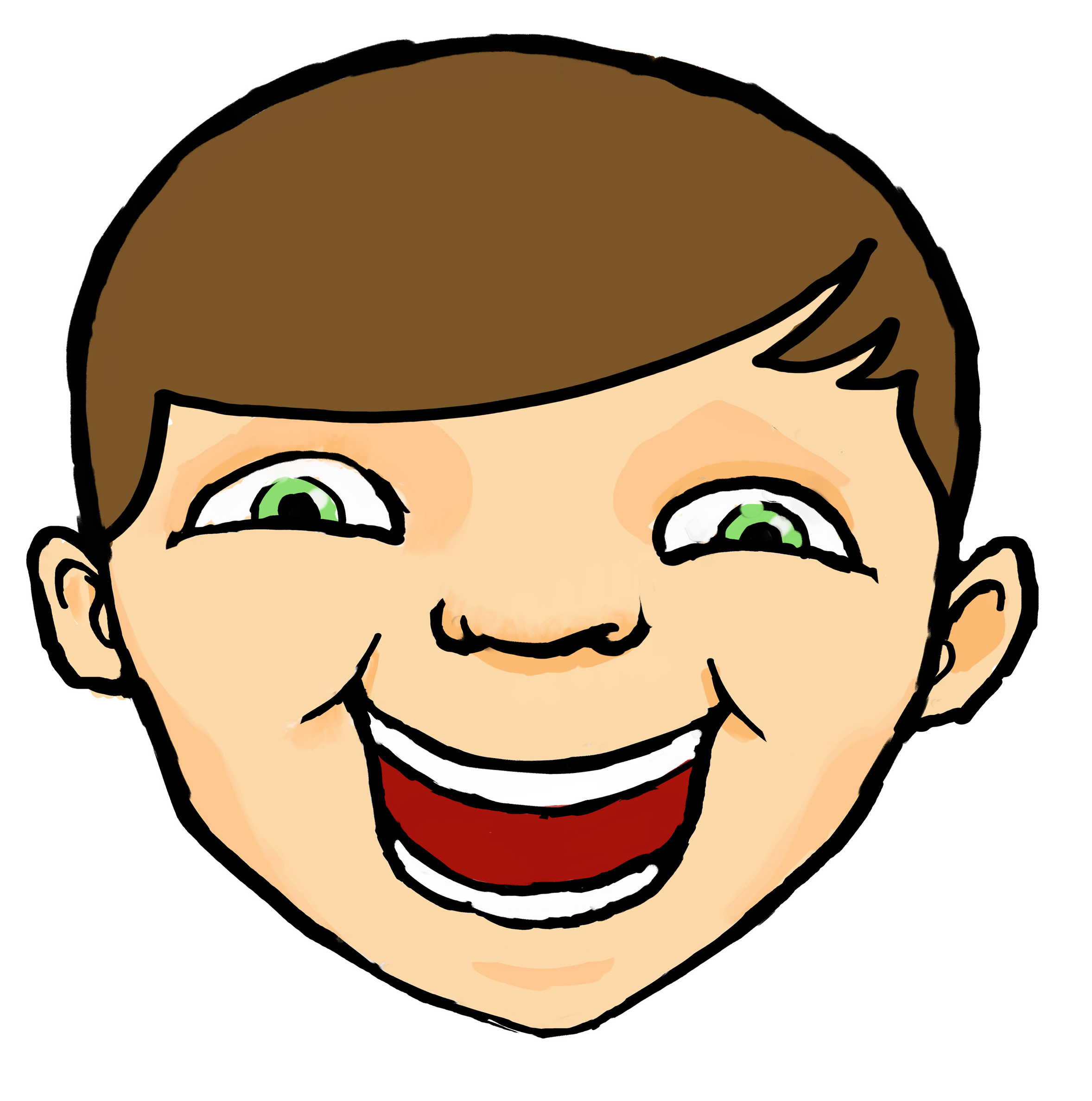 Kid Laughing Clipart.